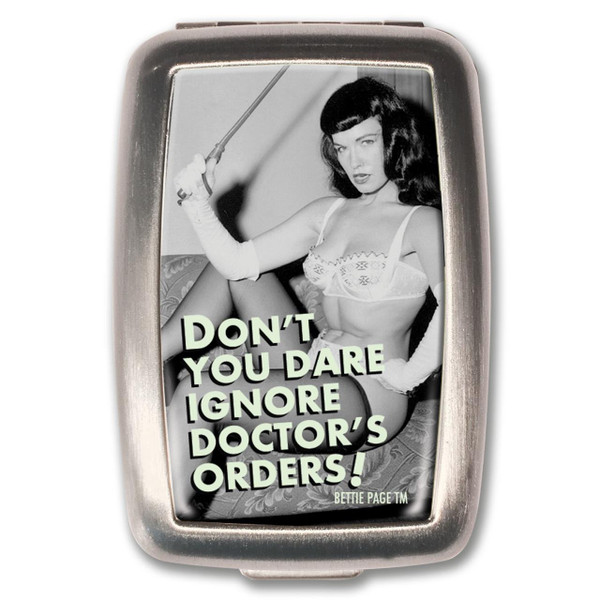 Bettie Page Doctor's Orders Pill Box -