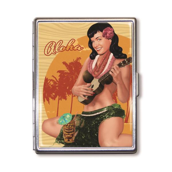 Bettie Page Aloha Tiki Cigarette Case* -