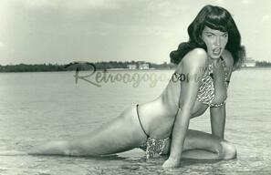 Bettie Page Summer Siren Print* - 0659682806938