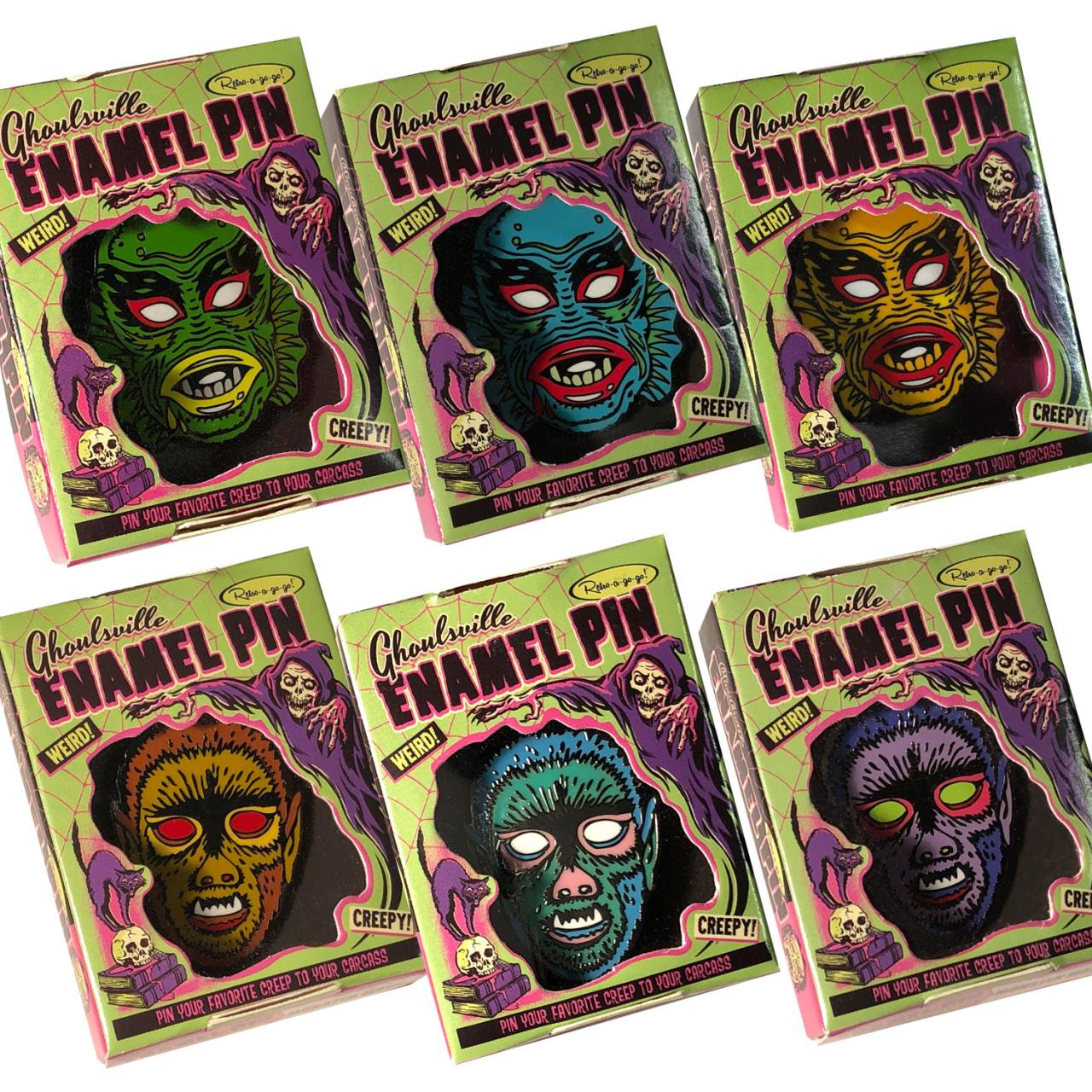 Set Of 6 Limited Edition Enamel Pins* -
