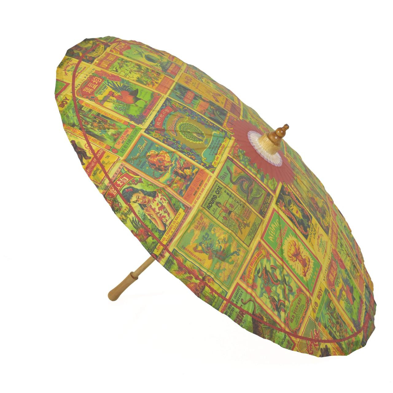 Vintage Firecracker Parasol - 0659682815336