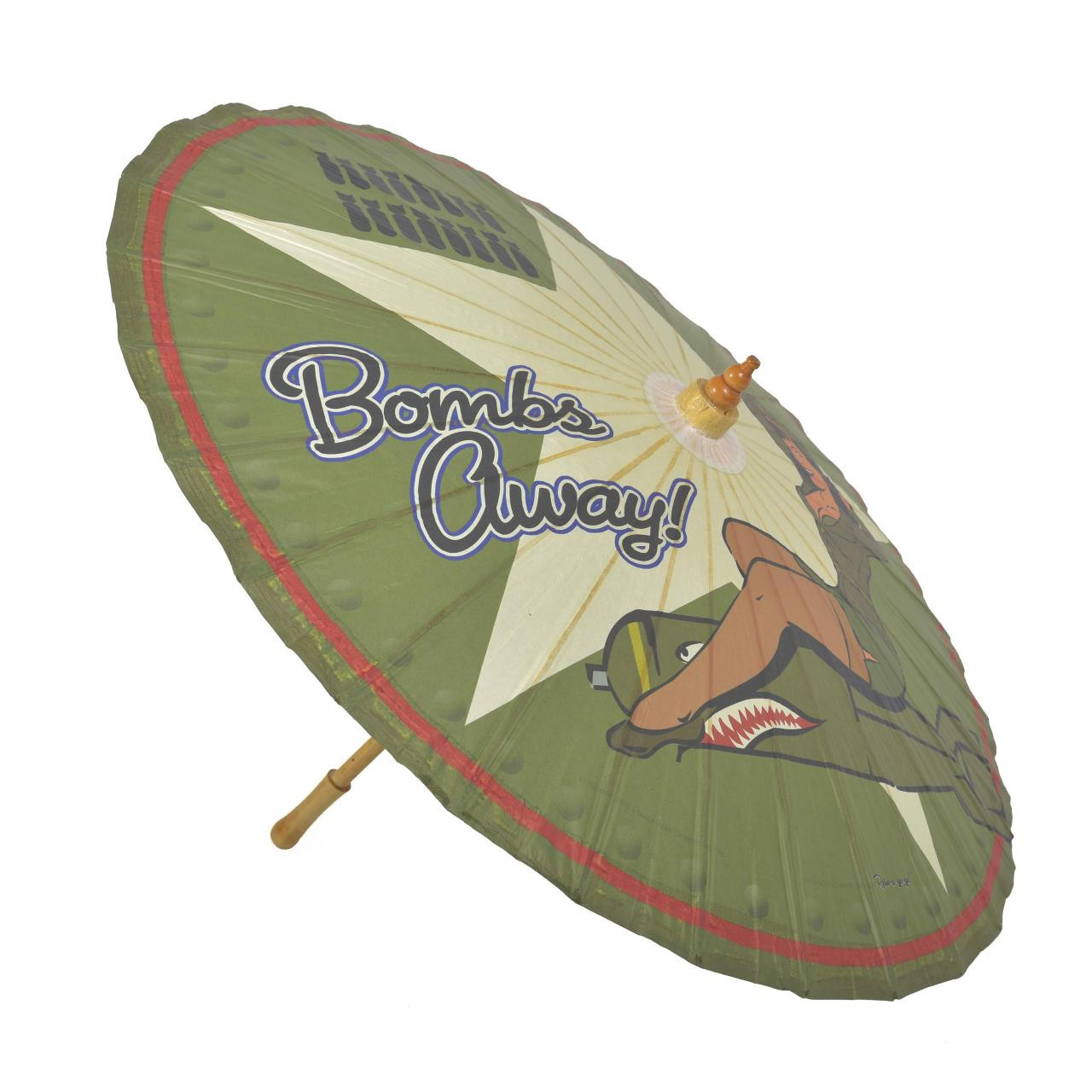 Bettie Page Bombs Away Parasol* - 0659682815268