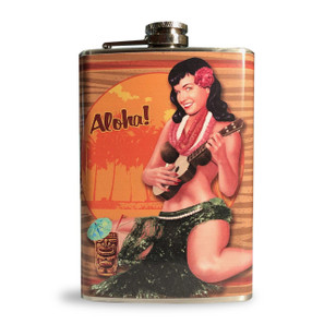 Bettie Page Aloha Tiki Flask* -