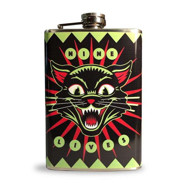 Nine Lives Flask* -