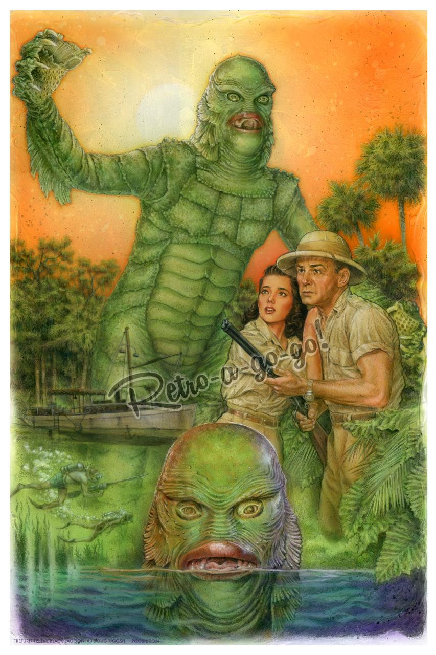 P'gosh Return To The Black Lagoon Print* -
