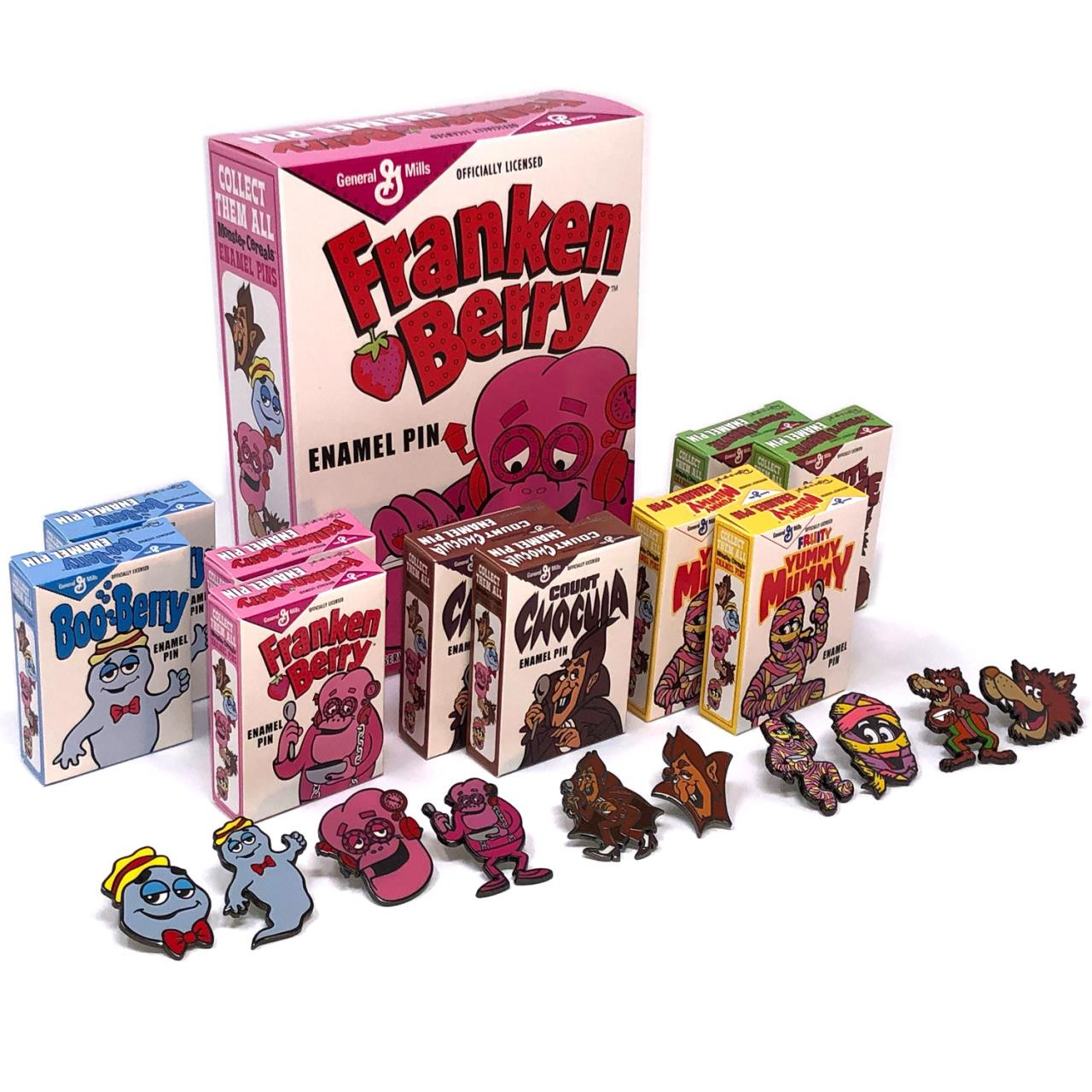 General Mills Pin Collection w/Franken Berry Box* -