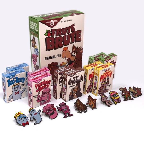 General Mills Pin Collection w/Frute Brute Box* -