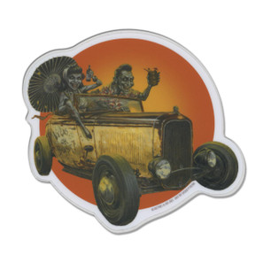 P'gosh Hot Rodders to Hell Vinyl Sticker* -