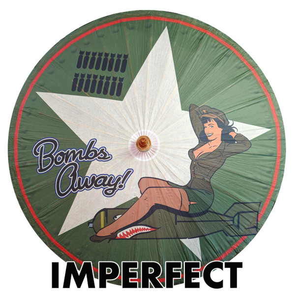 Imperfect Bettie Page Bombs Away Parasol -