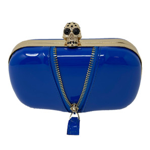 Naughty Noir Blue Clutch* -