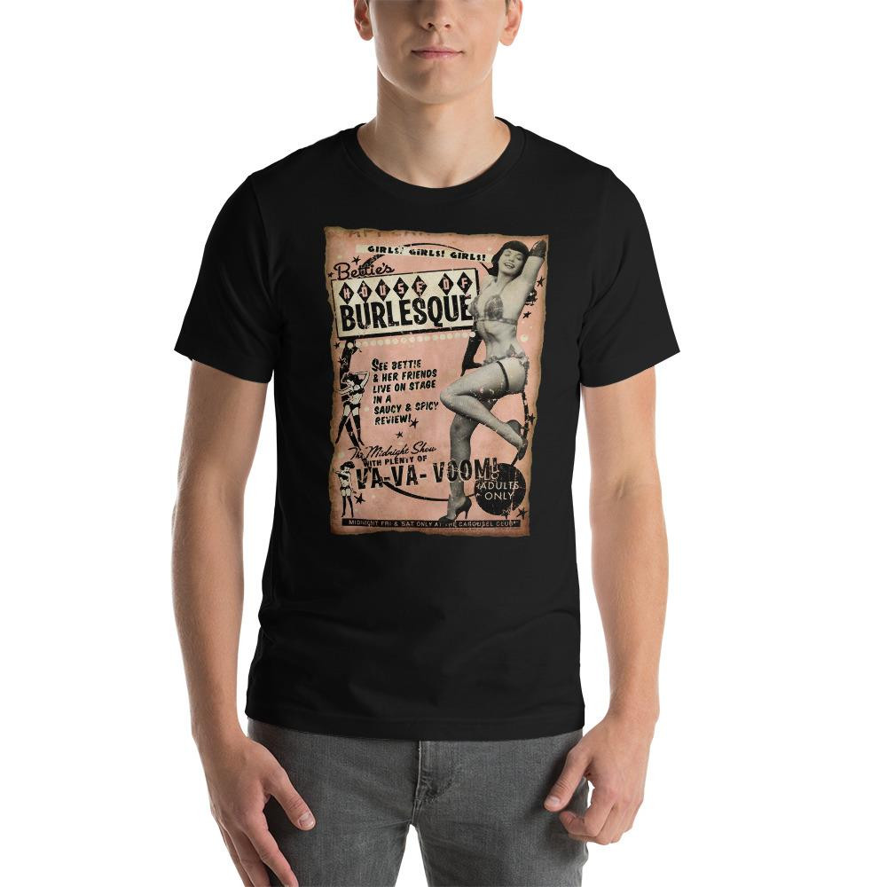 Bettie Page House of Burlesque Essential Unisex T-Shirt -