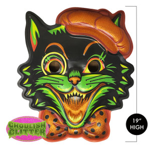 Pumpkin Puss 3-D Wall Decor* -