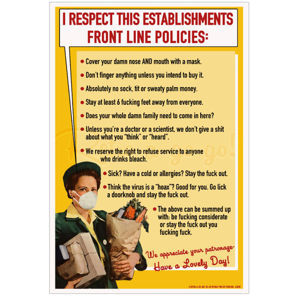 Front Line Policies Poster Print* -