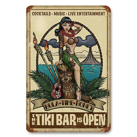 Tiki Bar Metal Sign -