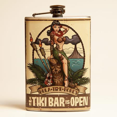Tiki Bar is Open Flask - OUT OF STOCK! - 0641938655117
