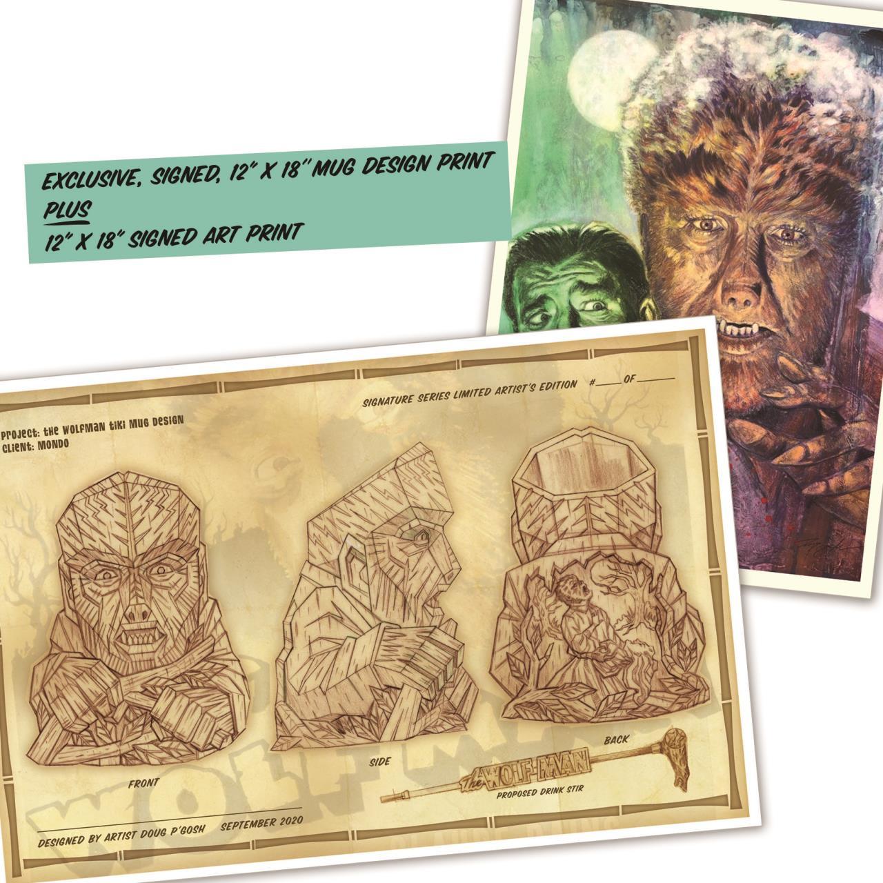 The Wolfman Ceramic Tiki Mug - Matte Brown* -
