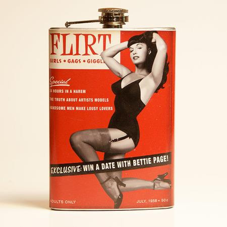 Bettie Page Flirt Flask-OUT OF STOCK -