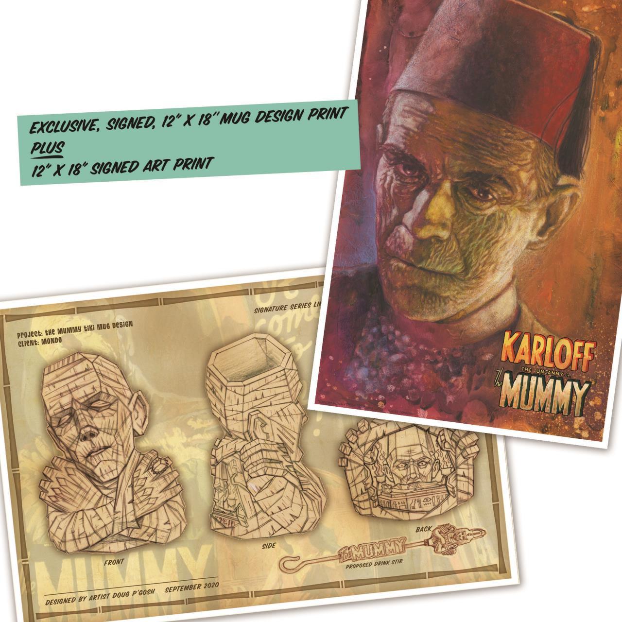 The Mummy Ceramic Tiki Mug - Silver Screen* -