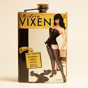 Bettie Page Modern Vixen Flask-OUT OF STOCK -