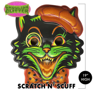 Scratch n' Scuff Pumpkin Puss 3-D Wall Decor* -