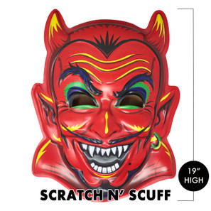 Scratch n' Scuff Fire Ball Devil 3-D Wall Decor* -