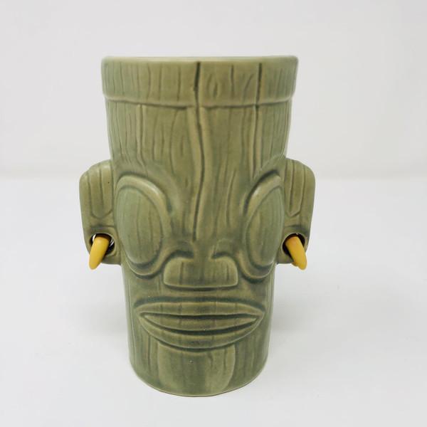 2007 Tiki Farm Tana'oa Green Tiki Mug -
