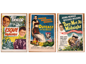 Lot Of 3 Vintage Movie Posters -