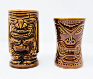 Lot Of 2 Tiki Mugs -