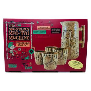 Tiki Farm Marvelous Mai Tai Machine Tiki Mug Set w/Pitcher* -