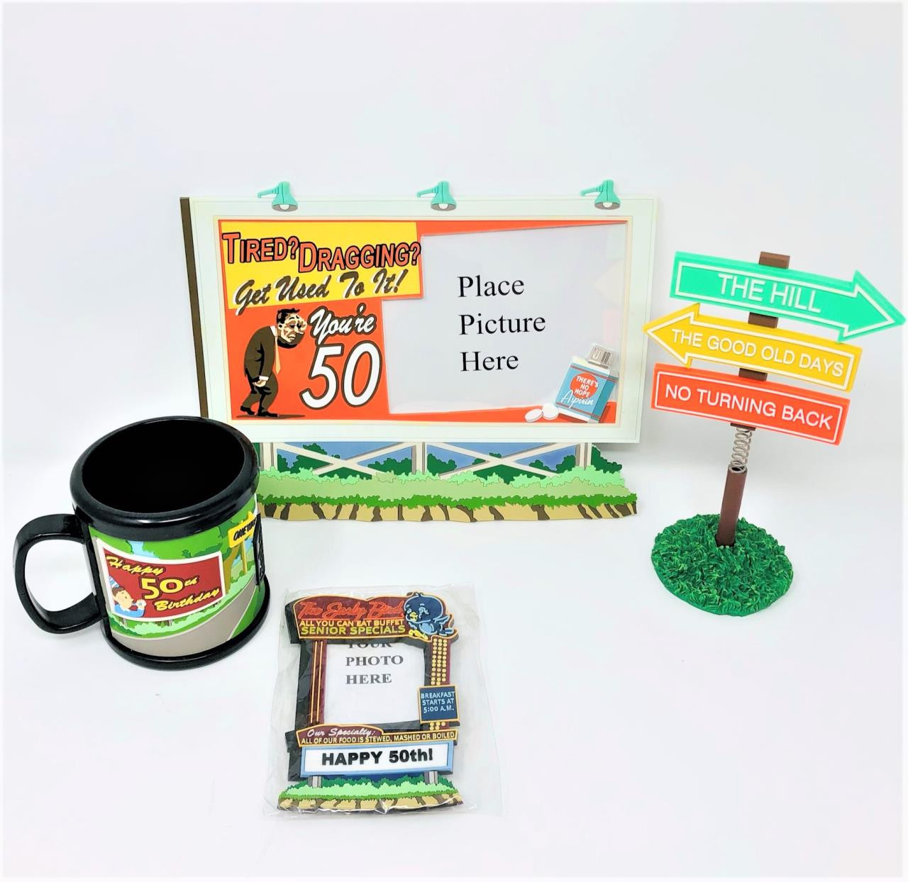 Happy 50th Birthday Gag Gifts Lot of 4 -