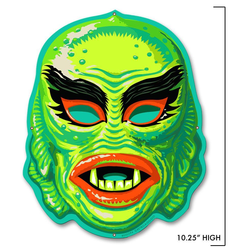 Fish Face Metal Sign - Mini* -