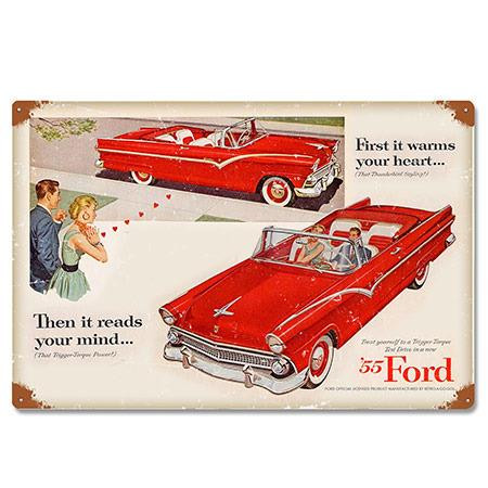 Ford 1955 Fairlane Convertible Metal Sign -