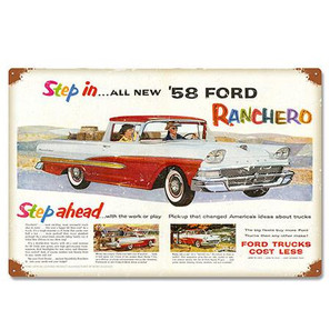 Ford 1958 Ranchero Metal Sign -