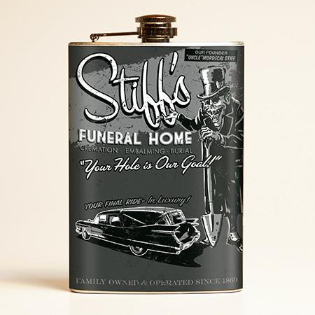 Stiff's Funeral Home Flask-OUT OF STOCK -