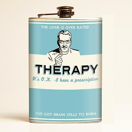 Therapy Flask | Retro-a-go-go!