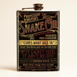 Theatre Bizarre Snake Oil Flask-OUT OF STOCK -