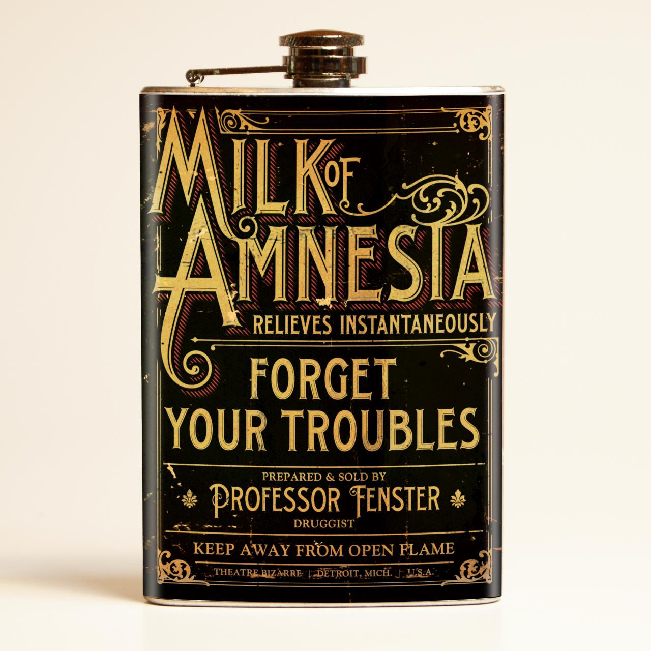 Theatre Bizarre Milk of Amnesia Flask-OUT OF STOCK -