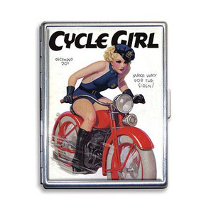 Cycle Girl Cigarette Case