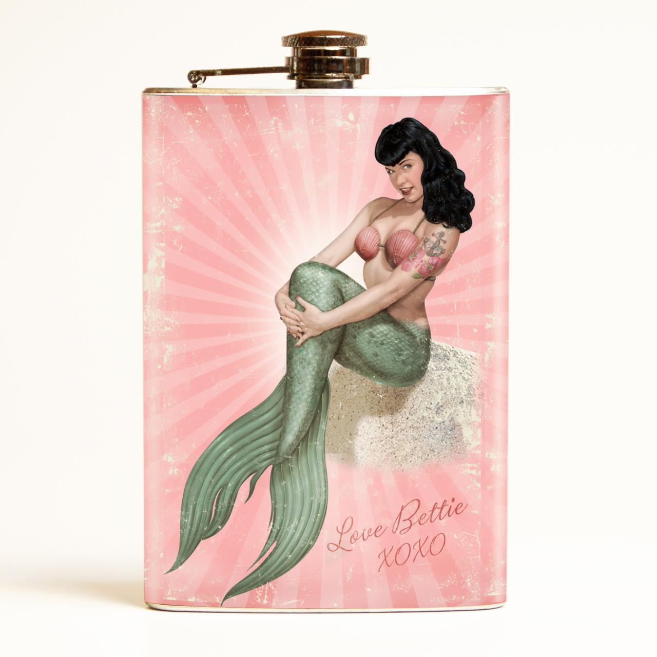 Bettie Page Mermaid Bettie Flask-OUT OF STOCK -