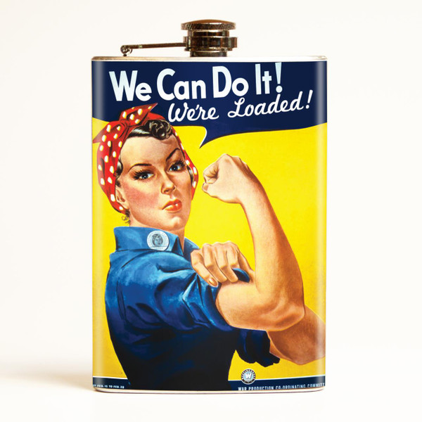 Rosie the Riveter Flask -