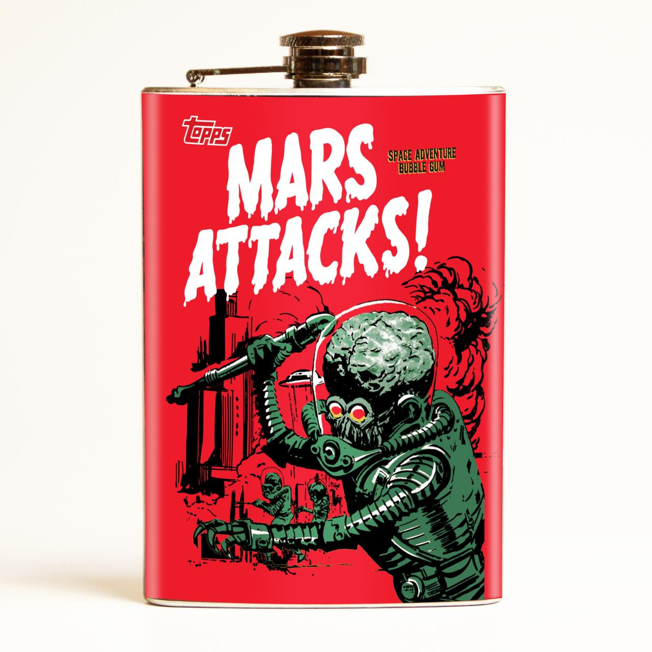 Mars Attacks Vintage Wrapper Flask -