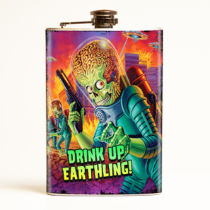 Mars Attacks Drink Up Earthling Flask-OUT OF STOCK - 0641938654790
