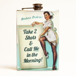 Take 2 Shots Flask -