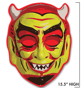 Fun House Devil Mask Metal Sign -