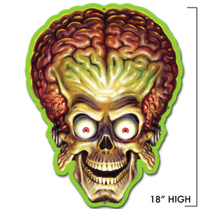 Mars Attacks Alien Invader Head Metal Sign -