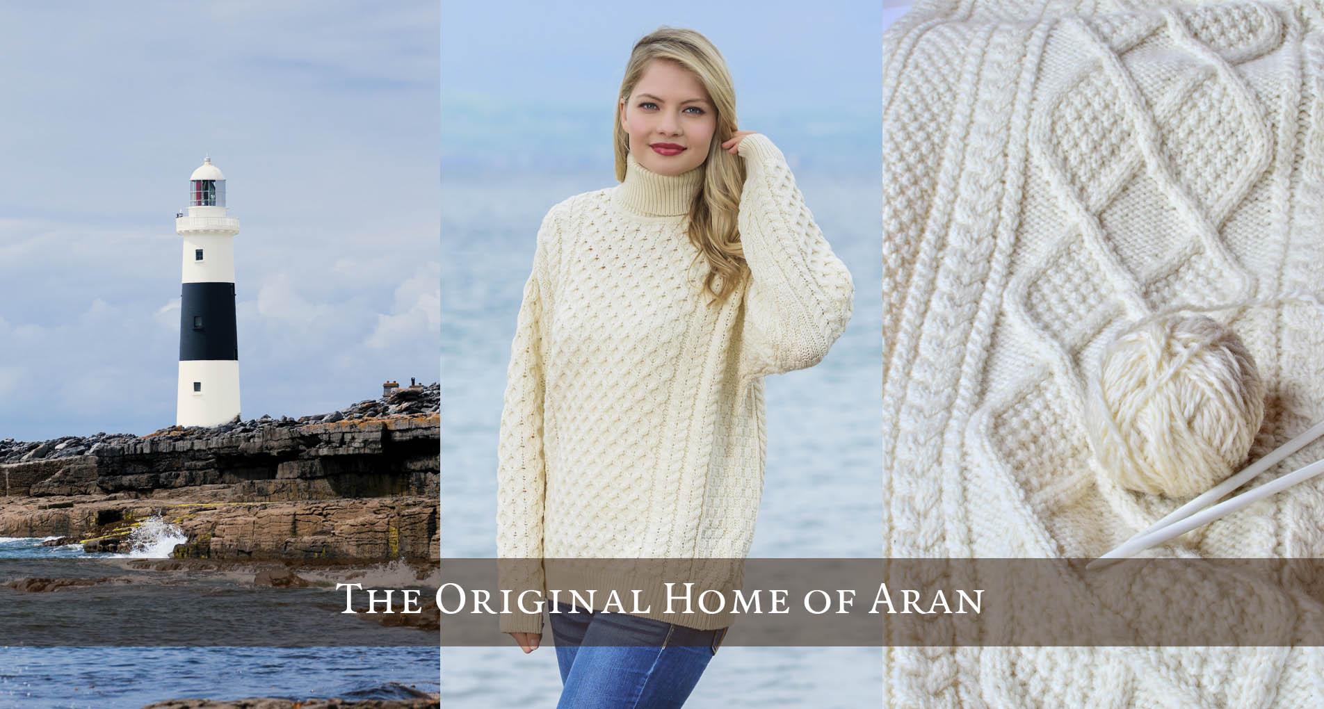 Womens Irish Sweaters & Aran Knits