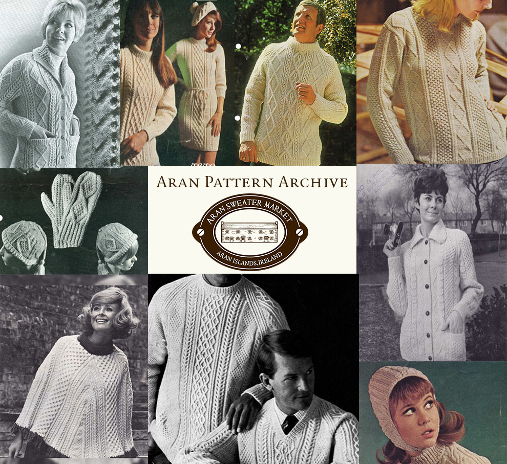 Knitting Free Vintage Pattern Archive Aran Sweater Market