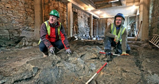 Archaeologists working at Aran Sweater Market, Quay Street, Galway