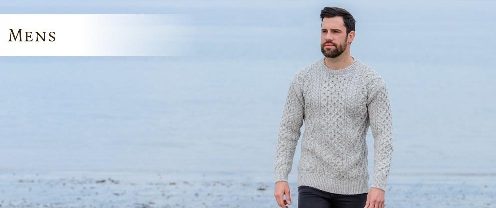 Mens Wool Sweaters, Irish Sweaters Home Of The Aran Sweater