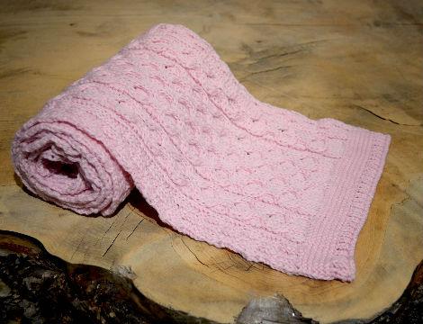 Pink Aran Scarf